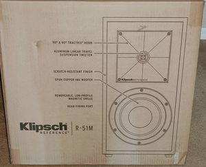 "Klipsch R-51m Reference Series-5-1/4"" 340-Watt Passive 2-Way -Pair for Sale in Tampa, FL"