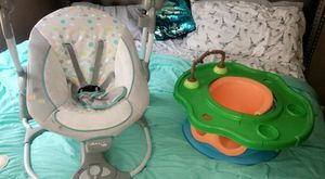 Baby Swing & Booster Play Seat for Sale in Tampa, FL