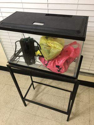 Una pecera con su filtro sus accesorios y su mesa de 10 galones en perfectas condiciones $60 for Sale in Palmetto Bay, FL
