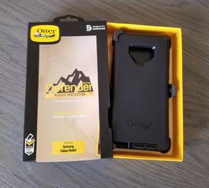 Samsung Galaxy Note 9 Otterbox Defender Case with belt clip holster black for Sale in Canyon Country, CA