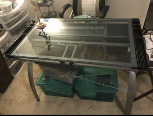 Glass desk for Sale in Arlington, VA