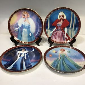 4 BARBIE PLATES - FINE PORCELAIN by DANBURY MINT for Sale in Hull, MA