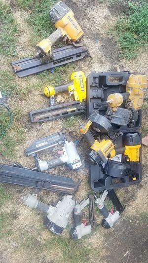 Lot of 10 dewalt porter bostitch coil framer finish nailer guns for Sale in Pawtucket, RI