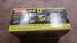 Ryobi 4 tool kit 18v lithium nib P883 for Sale in Baton Rouge, LA