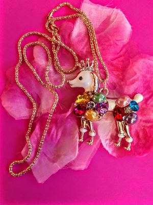Betsey Johnson Crystal Poodle Necklace for Sale in Wichita, KS
