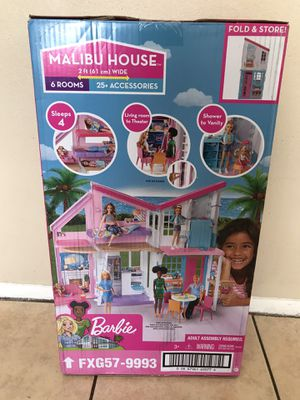 Barbie Estate Malibu House Playset with 25+ Themed Accessories girl toy for dolls for Sale in Glendale, AZ