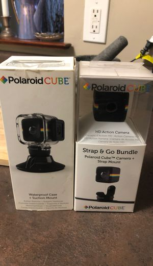 Polaroid Cube Strap and Go Bundle with Waterproof Case + Suction Mount for Sale in Boston, MA