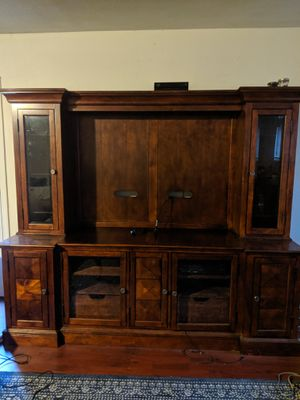 Entertainment center solid wood for Sale in Carmichael, CA