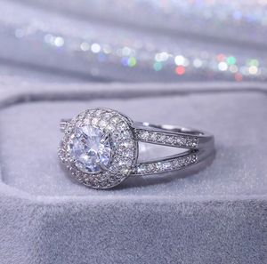 925 Silver Wedding Rings For Women Round Cut Cubic Zirconia Jewelry Sz 7 for Sale in Palmetto, FL