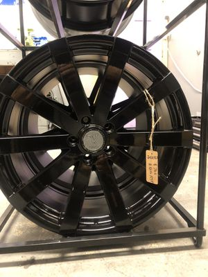 BRAND NEW set (4) Gloss Black 20 inch Rims for only $700!!! for Sale in Lakewood, WA