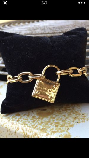 Mk Michael kors padlock gold tone bracelet bangle for Sale in Silver Spring, MD