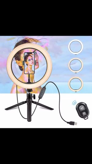 10.2 Inch Ring Light with Stand - LED Camera Selfie Light Ring for iPhone Tripod and Phone Holder for Video Photography for Sale in Worcester, MA