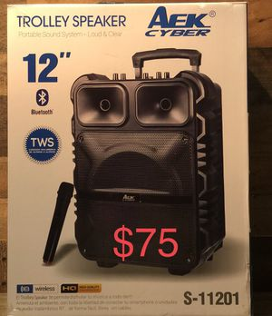 """12"""" Aek CyBer Bluetooth Trolley Speaker with Microphone 🎤 for Sale in Montebello, CA"""