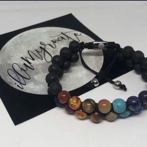 Natural 7-Chakra Lava Gemstone Bracelet for Sale in Stanton, CA