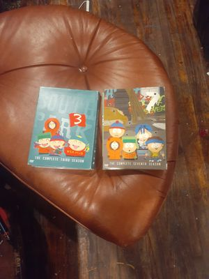 Southpark complete 3rd and 7th seasons for Sale in Tulsa, OK