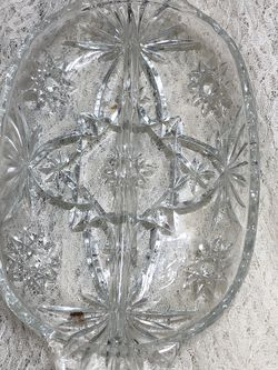 Vintage Crystal Relish Dish Handles for Sale in North Royalton,  OH