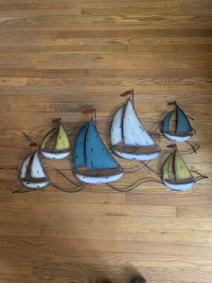 Metal wall art, depiction of sailboats for Sale in Chesapeake, VA