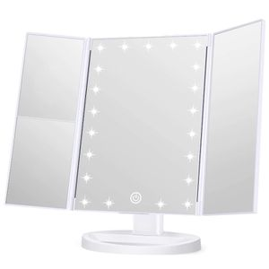 Wondruz Makeup Mirror Vanity Mirror with Lights, 1x 2X 3X Magnification, Touch Screen Switch, Dual Power Supply, Portable Trifold Makeup Mirror Cosmet for Sale in Las Vegas, NV