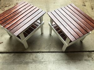 California Outdoor Side Tables - Hand Crafted/Custom Build for Sale in Alexandria, VA