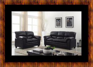 Black bonded sofa and loveseat for Sale in Manassas, VA