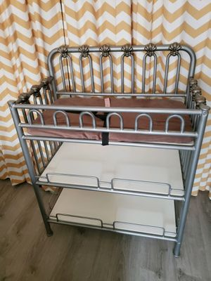 Heavy duty wrought iron style changing table for Sale in East Gull Lake, MN