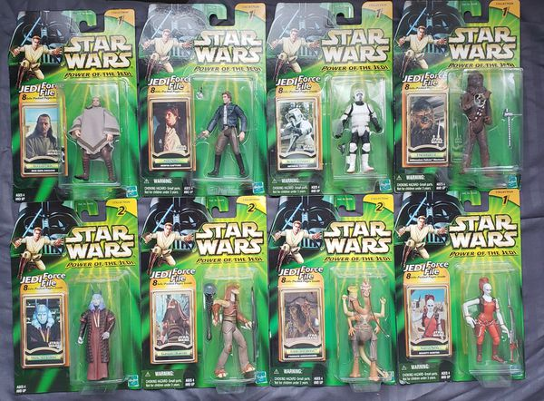 8 - Star Wars - Power of The Jedi - 3 3/4 Action Figure Collection