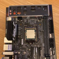 Intel Core i5 9400 + Gigabyte H370N ITX Motherboard for Sale in The Bronx,  NY