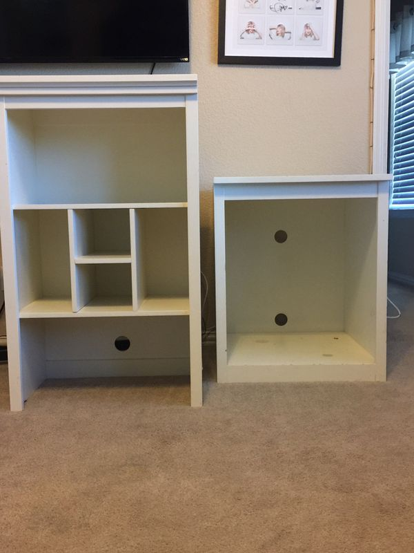 White Stackable Pottery Barn bookcase