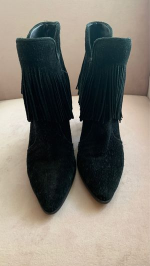Antonio Melani- Fringe Leather Suede Booties women's 7 for Sale in Irving, TX