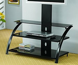 2 glass tv stands for flat screens for Sale in Sanger, CA