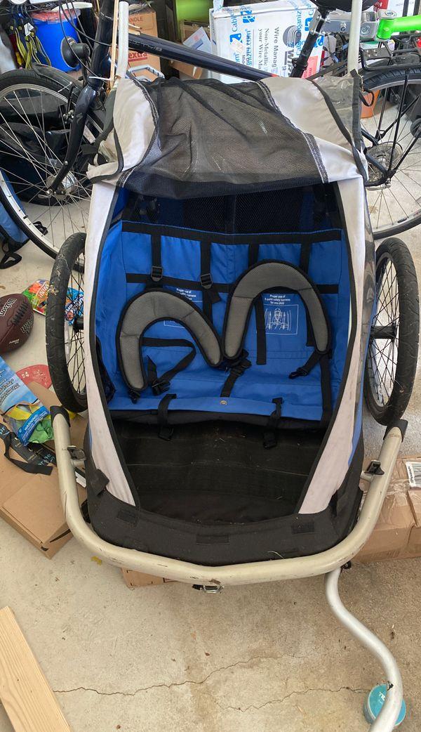 2 child bike trailer