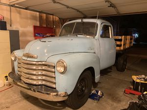 1952 Chevy Pickup Truck - 1952 Chevrolet 3600 Flat Bed Truck w/RARE '51 Cab Project - Easy Finish - Lots of New Parts! Runs Great! V8 350 Chev SM465 for Sale in Kent, WA