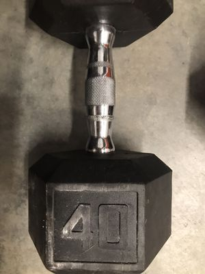 40 pound Hex rubber dumbell for Sale in Miami, FL