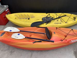 2 Kayaks bery good condition $120 for both for Sale in Los Angeles, CA