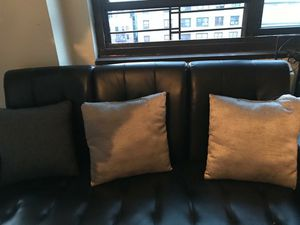 Two (2) good condition bed sofas blk & grey plus more.. for Sale in The Bronx, NY