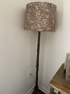 Floor lamp and vintage butterfly framed for Sale in West Palm Beach, FL