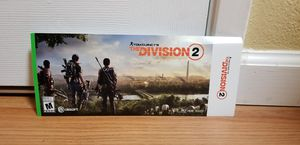 The Division 2 DLC Code- Xbox One, Price Firm, Trade For NBA 20 or NFL 20 for Sale in Garden Grove, CA