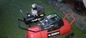 Two husky air compressors sold as is for Sale in Hallandale Beach, FL