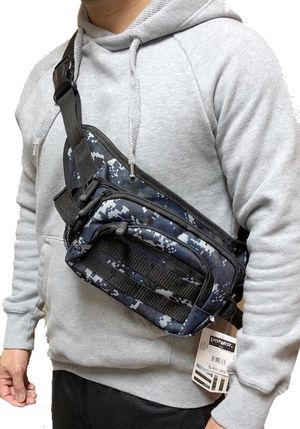 NEW! Blue Camouflage Waist/Shoulder/Crossbody/Fanny Pack/Pouch For Everyday Use/Work/School/Hiking/Traveling/Camping/Biking/Gifts $12 for Sale in Carson, CA