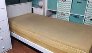 """Nice Solid Wood White Twin Platform Bed w/ 12"""" Thick Mattress for Sale in Phoenix, AZ"""