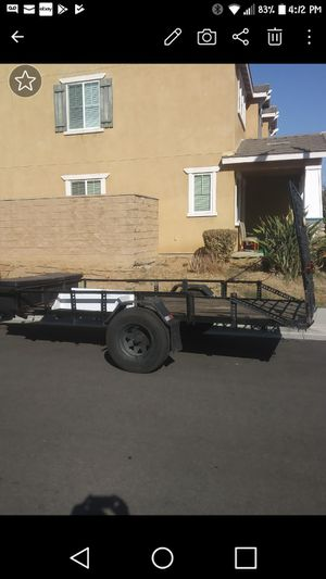 12x6ft trailer in good shape with toolbox in front 1200.00 obo for Sale in Corona, CA