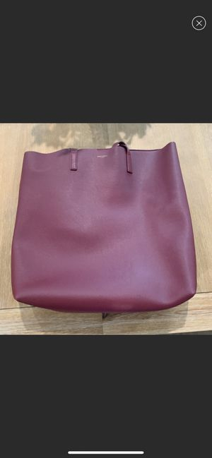 Saint Laurent (YSL) burgundy tote bag for Sale in Auburn, WA