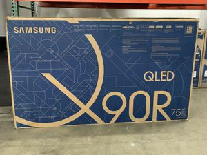 Samsung QN75Q90RAFXZA Flat 75-Inch QLED 4K Q90 Series Ultra HD Smart TV with HDR and Alexa Compatibility (2019 Model) for Sale in Downey, CA