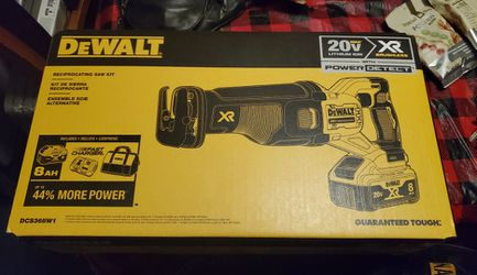 DEWALTXR POWER DETECT 20-Volt Max Variable Speed Brushless Cordless Reciprocating Saw (Charger Included and Battery Included) 8AH NEW (NOT NEGOTIABLE for Sale in Jersey City,  NJ