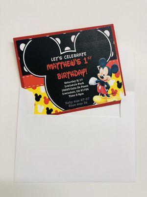 Disney invitations for Sale in Norwalk, CA