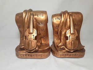 Vtg 1965 Bookends Violin Musical for Sale in Bakersfield, CA