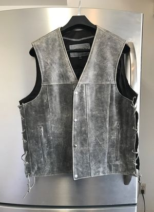 Leather motorcycle vest for Sale in Scottsdale, AZ