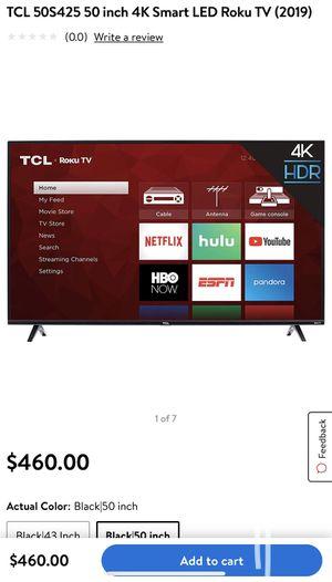 50 Inch TCL smart tv 4K for Sale in Phoenix, AZ