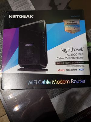 Netgear nighthawk wifi cable modem router for Sale in Compton, CA