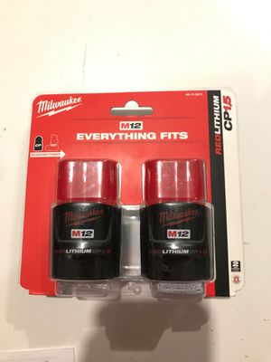 Milwaukee M12 1.5ah battery 2 pack for Sale in Jennings, MO